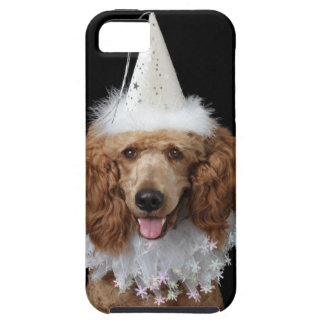 Golden Poodle Dog wearing a white clown costume iPhone 5 Case