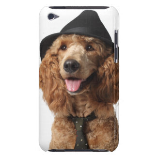 Golden Poodle Dog wearing Hat and Tie iPod Touch Cover