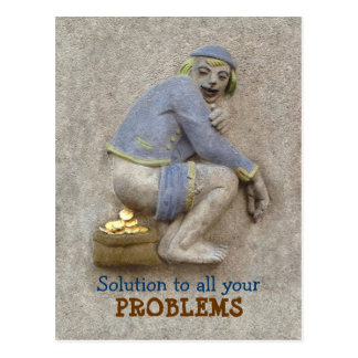 Golden Poop ~ Postcard / Invitation