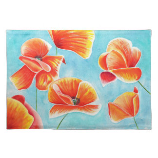 Golden Poppies in the Sky design placemat