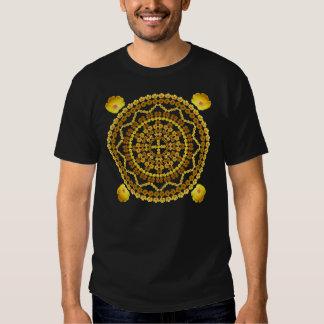 Golden Poppies Mandala T Shirt