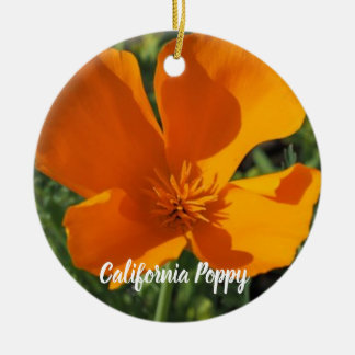 Golden Poppy Christmas Ornament