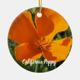 Golden Poppy Christmas Ornament