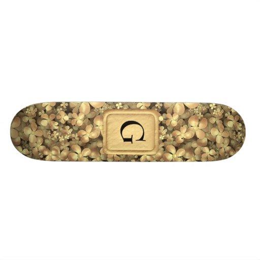 Golden Posies Custom Skate Board