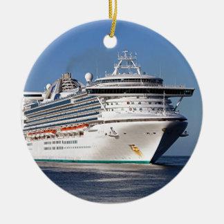Golden Princess cruise ship Round Ceramic Decoration
