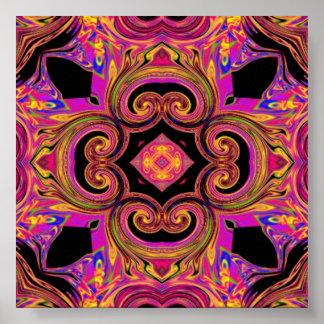 golden psychedelic poster