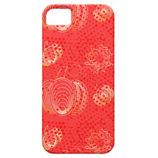Golden pumpkin on pink background iPhone 5 cover
