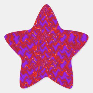 Golden Purple Artistic Strip ADD TEXT IMAGE Gifts Star Sticker