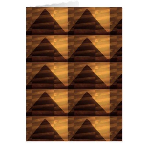 Golden PYRAMID ART : Elegant Triangles ENERGY FULL Card