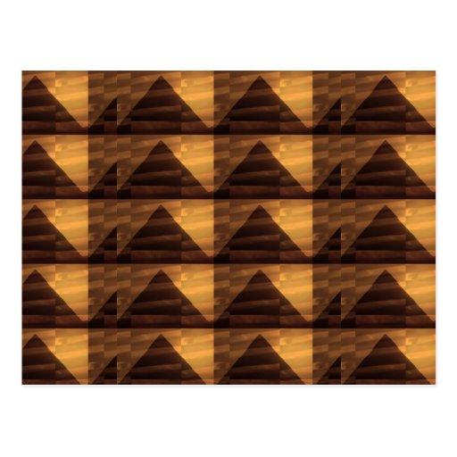 Golden PYRAMID ART : Elegant Triangles ENERGY FULL Postcards