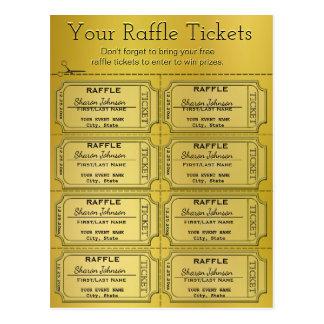 Golden Raffle Tickets Postcard