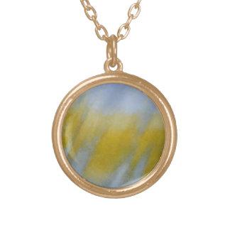 Golden Rain Round Pendant Necklace