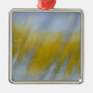 Golden Rain Silver-Colored Square Decoration