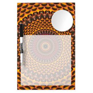 Golden Rainbow Mandala Pattern Dry Erase Board With Mirror
