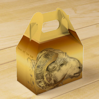 Golden Ram Chinese New Year Zodiac Favor Box