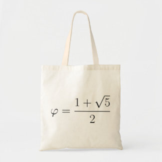 Golden ratio canvas bag