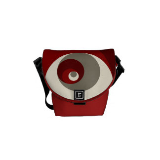 Golden Ratio Circles (Red) Commuter Bags