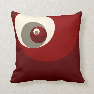 Golden Ratio Circles (Red) Cushion