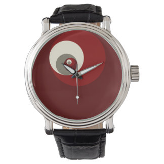 Golden Ratio Circles (Red) Watch