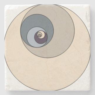 Golden Ratio Circles Stone Coaster