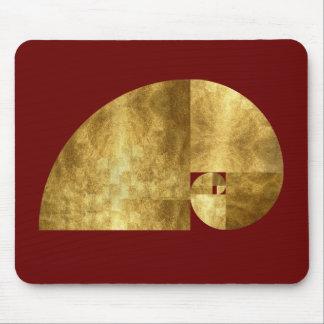 Golden Ratio, Fibonacci Spiral Mouse Mat