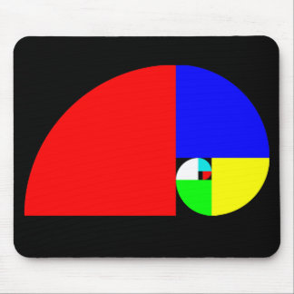 Golden Ratio, Fibonacci Spiral Mouse Mat