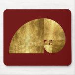 Golden Ratio, Fibonacci Spiral Mousemat