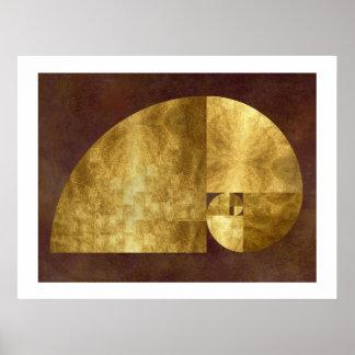 Golden Ratio Fibonacci Spiral Posters
