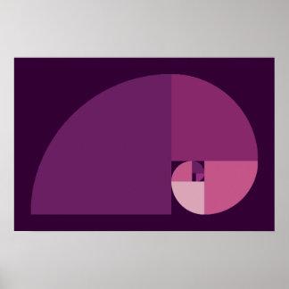 Golden Ratio Fibonacci Spiral Print