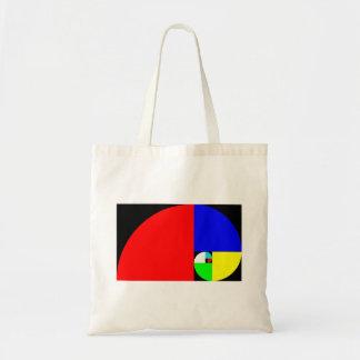 Golden Ratio, Fibonacci Spiral Tote Bag