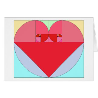 Golden Ratio Heart Greeting Card