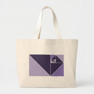 Golden Ratio (Purple) Jumbo Tote Bag