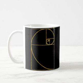 Golden Ratio Sacred Fibonacci Spiral Basic White Mug