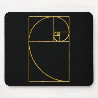 Golden Ratio Sacred Fibonacci Spiral Mouse Mat