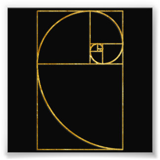 Golden Ratio Sacred Fibonacci Spiral Photo Print