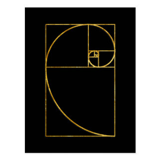 Golden Ratio Sacred Fibonacci Spiral Postcard