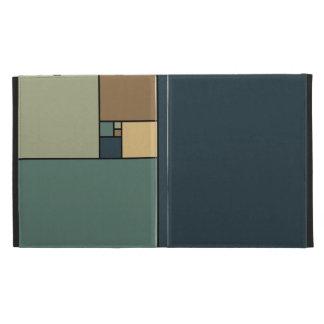 Golden Ratio Squares (Neutrals) iPad Folio Cover