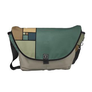 Golden Ratio Squares (Neutrals) Messenger Bag