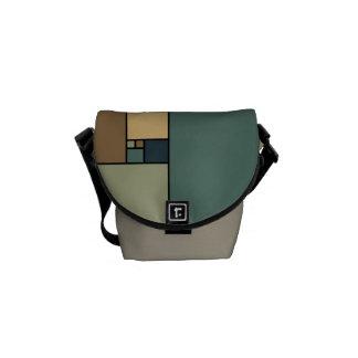 Golden Ratio Squares (Neutrals) Messenger Bags