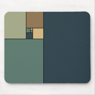 Golden Ratio Squares (Neutrals) Mouse Mat