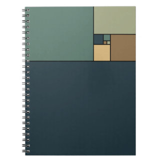 Golden Ratio Squares (Neutrals) Spiral Notebook