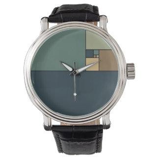 Golden Ratio Squares (Neutrals) Wristwatch