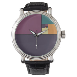Golden Ratio Squares Wrist Watches