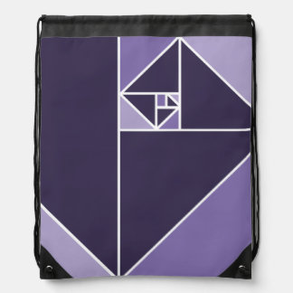 Golden Ratio Triangles (Purple) Backpacks