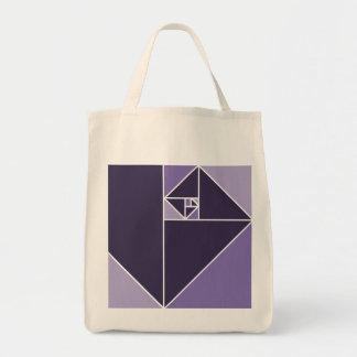 Golden Ratio Triangles (Purple) Grocery Tote Bag