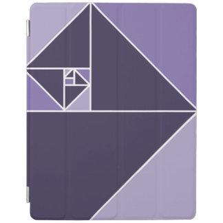 Golden Ratio Triangles (Purple) iPad Cover
