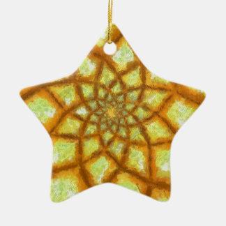 Golden Rays Ceramic Star Decoration