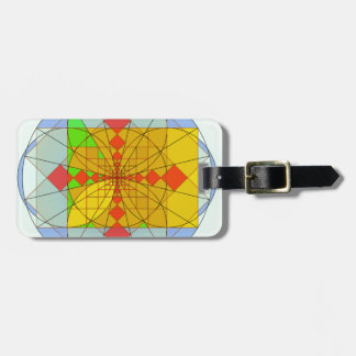 Golden rectangle shapes luggage tag