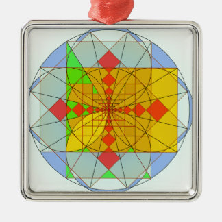 Golden rectangle shapes Silver-Colored square decoration