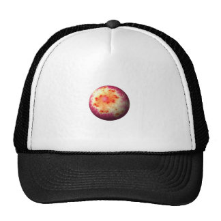 Golden Red Abstract Globe Mesh Hats